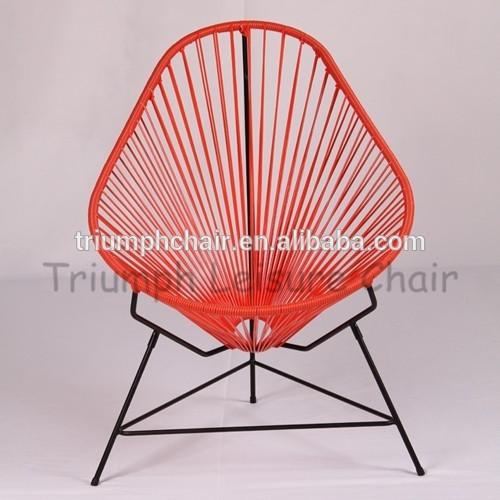 Blanc m tal basse corde en plastique chaise de plage pour for Chaise de jardin plastique blanc