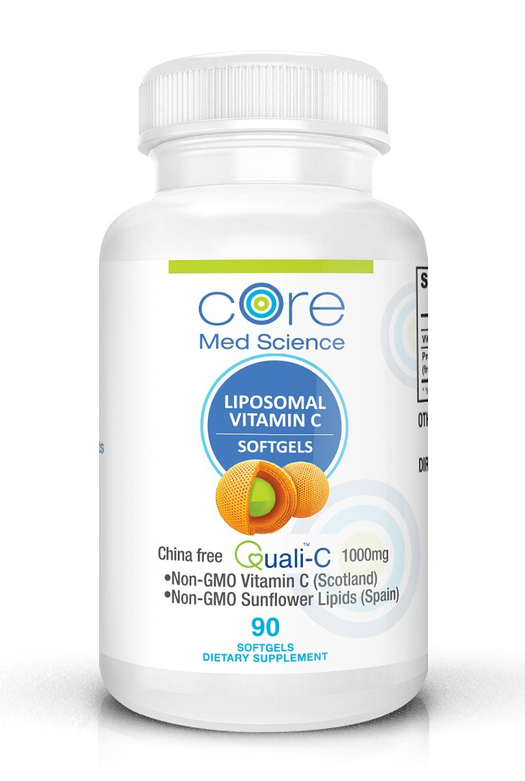 Optimized Liposomal Vitamin C 1000mg SOFTGELS | Quali®-C Scottish Ascorbic Acid | CHINA-FREE | High Absorption Immune System Support & Collagen Booster Supplement | Non-GMO | No Soy | (1 month)