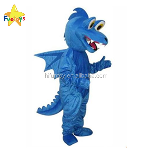Funtoys CE Réaliste Animal Bleu Dragon Costume De Mascotte Pour Adultes