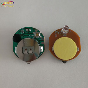 Single LED lights Button cell power flashing led module for POP display, blinking led for toy, flashing adhesive led light