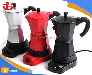 6cups All Aluminum Electric Italian Espresso Moka Coffee Maker Pot Jt03 229