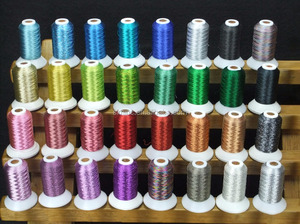 32 Colors Simthread metallic embroidery thread 500 Meters each for home embroidery machines