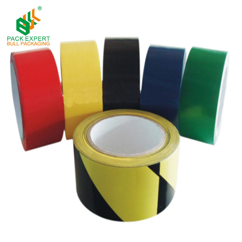 2017 hot sale high quality PVC floor tape warehouse land line marking tape warning tape