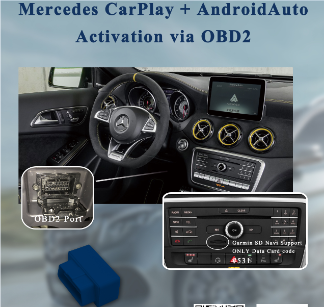 Link Smartphone Siri,Map,Music Into Car For M-ercedes Ntg5 1 Command  Audio20 Carplay And Android Auto Activation W176 W204 W214 - Buy M-ercedes  Ntg