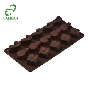 New Design Silicone Christmas Chocolate Candy Ice Mold