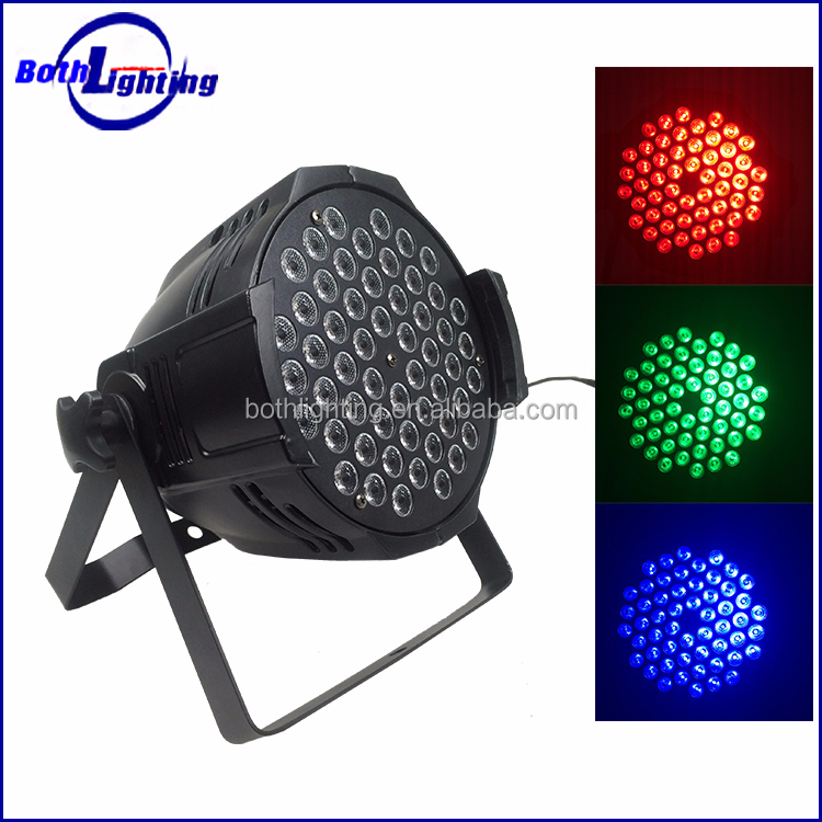 Stage lighting LED 54 3w RGBW par64 light led power flat par can light price