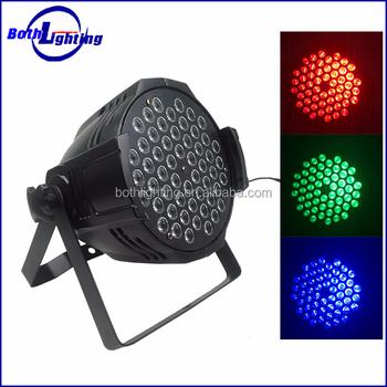Stage Lighting Led 54 3w Rgbw Par64 Light Led Power Flat Par Can ...