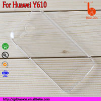 selling android accessories Transparent plastic phone case covers for huawei AscendY610