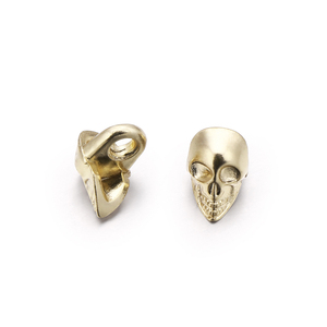 Sewing accessories gold skull buttons for clothes