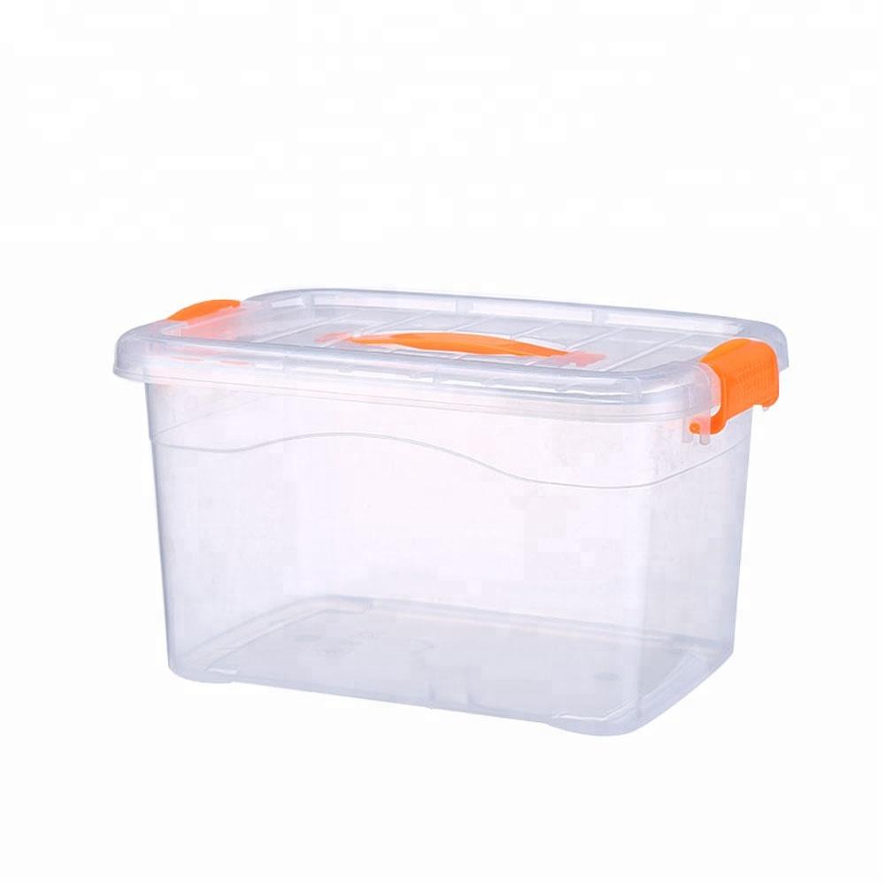 Прозрачный пищевой пластиковый ящик для хранения