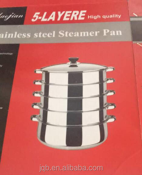 100% rustless stainless steel 3 tier food steamer online
