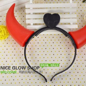 Party Decoration Clearance sale hot Halloween Costumes Devil Horns LED Flash Light Colorful Wedding Party Decor