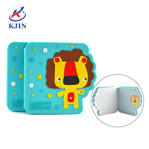 new fashion oem 3D PVC cover die-cut lion notebook for pocket