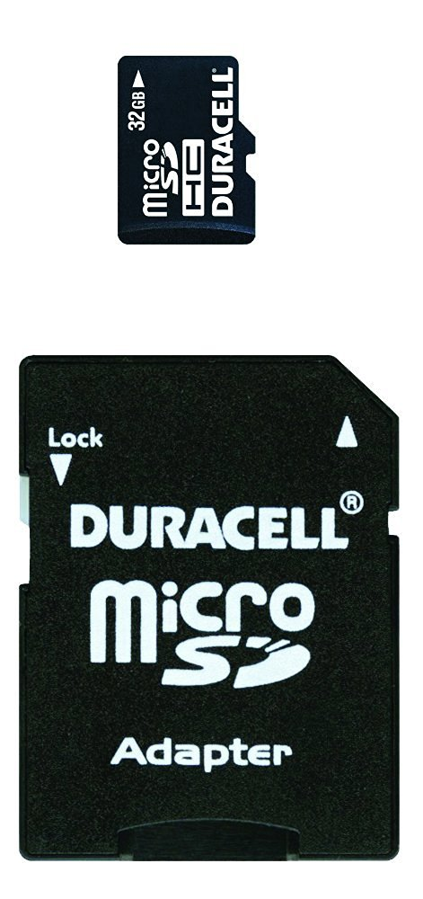 Duracell 32 GB Class 2 Micro Secure Digital Card with SD Adaptor DU-2IN1-32G-R