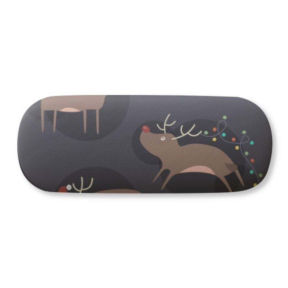14a8c67799fd Get Quotations · Christmas Reindeer Moose Pattern Glasses Case Eyeglasses  Clam Shell Holder Storage Box