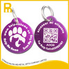 Cheap price glass-like coating aluminum QR code dog pet tag
