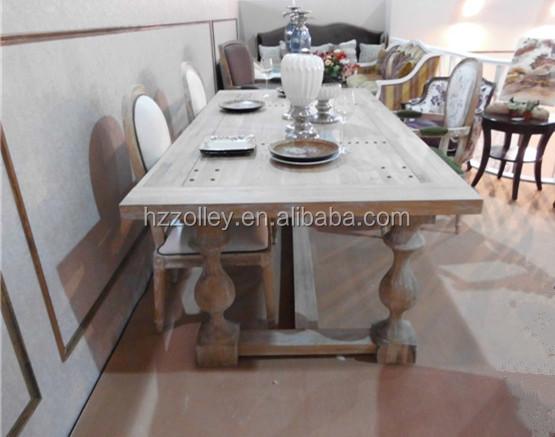 Francés apenada muebles rústicos de madera reciclada restaurante ...