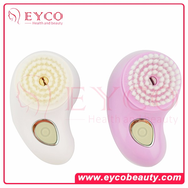 2016 Electric Waterproof Silicone Sonic Facial Cleansing Brush Cleaner For Oily Skin