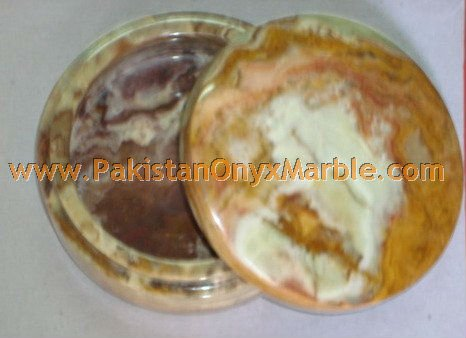 DECORATIVE MULTI BROWN ONYX JEWELRY BOXES