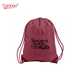 Cute double string drawstring bag red drawstring backpack for girls