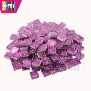 China Supplier 10-spa501 Purple Glitter Crystal Glass Mosaic Tile For Glass  Ornament - Buy China Tile Mosaic,Glitter Crystal Glass Mosaic Tile,Crystal