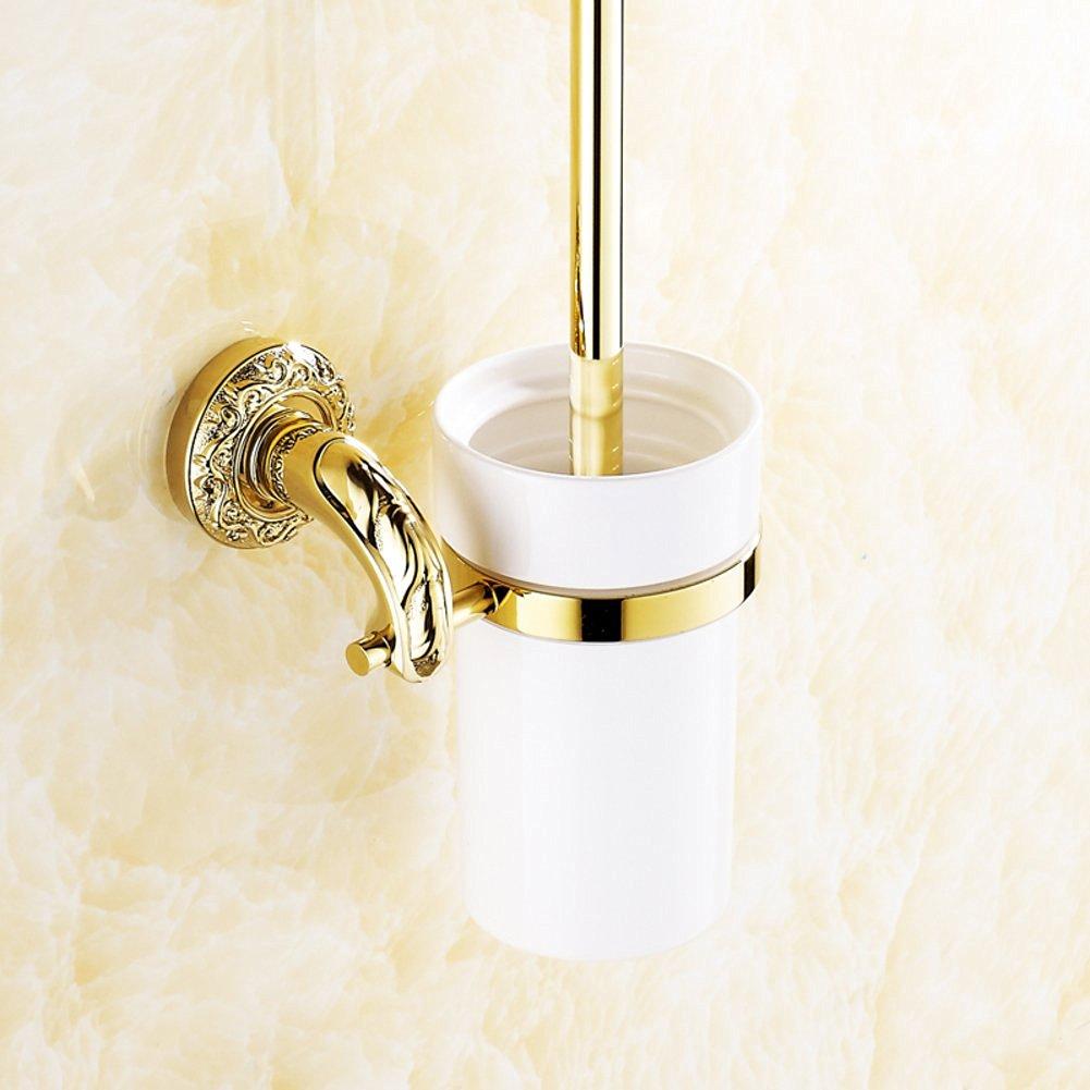 Toilet Brush Set/European antique golden carved non-stainless steel toilet/Toilet brush rack/Bathroom Accessories