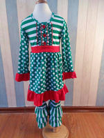Adorable super fashion wholesale toddler sets christmas tree smocked holiday children clothing name brand cheap price clothes