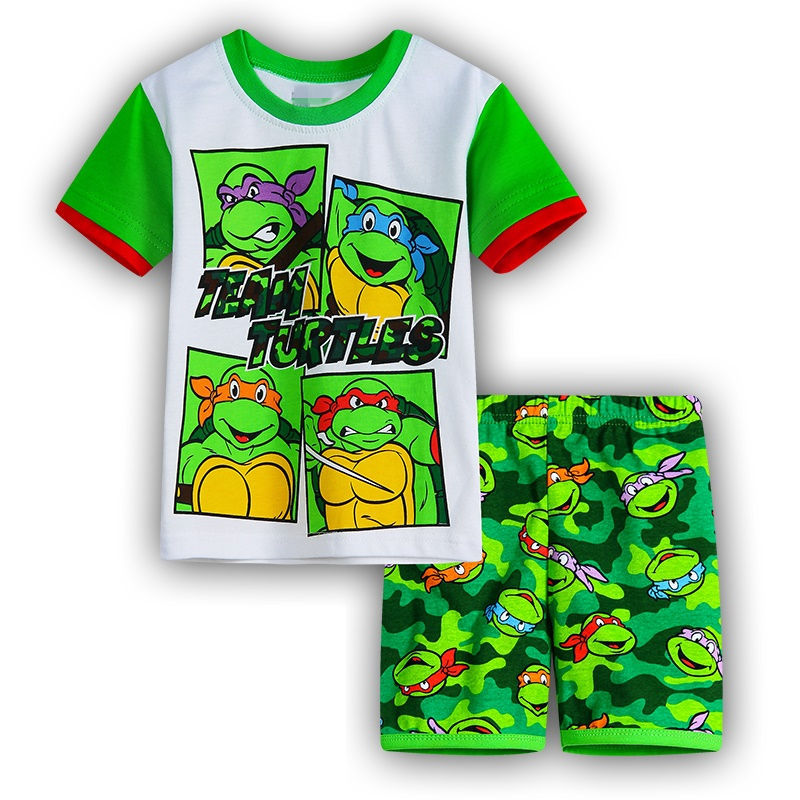 2016 Summer Kids Wear Girls Teenage Mutant Ninja Turtles Pajamas Children s Princess Pyjamas Family Clothing