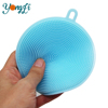 Hot Sales Antibacterial Silicone Dish Scrubber Sponge Brush