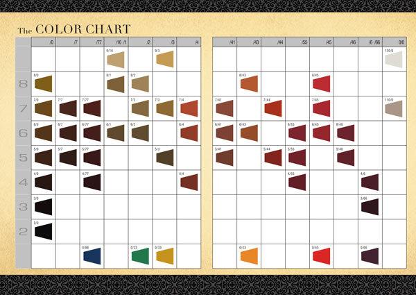 argan oil hair color chart