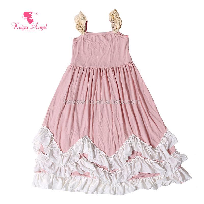 Wedding Dress Wholesale Sleeveless Cheap Pink Ruffle Latest Kids ...