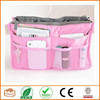 2015 Chiqun Dongguan Pink Handbag Pouch Bag in Bag Organiser Insert Organizer Tidy Travel Cosmetic Pocket Makeup Bag