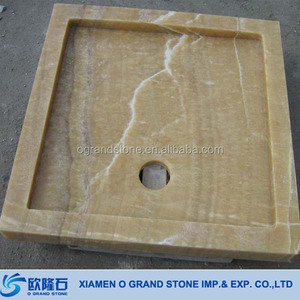Yellow Onyx Marble Solid Shower Stone Shower Tray