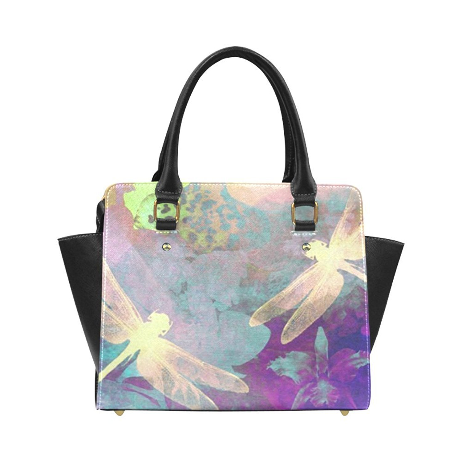 be5c9c554e Get Quotations · Angelinana Dragonflies and Orchids Tapestry Custom Handbag  Fashion Shoulder Bag PU leather Women s Handbags