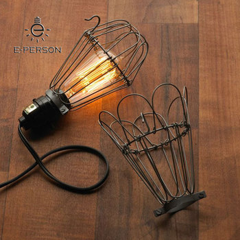 Pendant Light Basic Bulb Cage Switch Industrial Hanging Ceiling Lamp Plug In Pendant Lighting Swag Buy Bulb Cage Pendant Light Basic Bulb Cage Swag