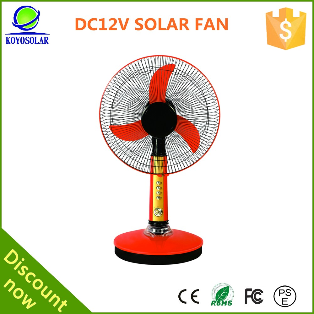 high quality16 inch DC 12V table fan with timer