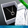 decorative white paper cardboard gift jewellery boxes wholesale for necklace with bowknot