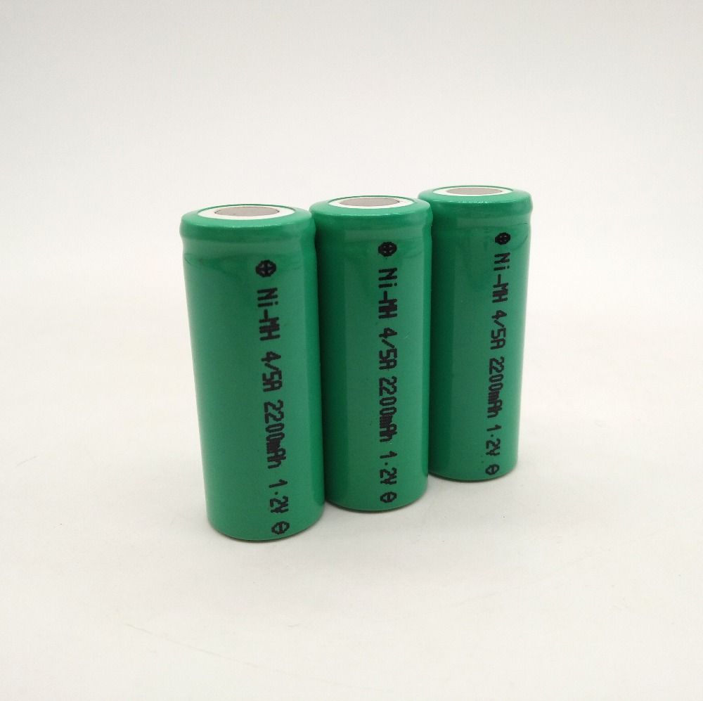 4/5AA 2200 mAh 1.2v NiMH rechargeable battery Cell 1.2v for Remote Control