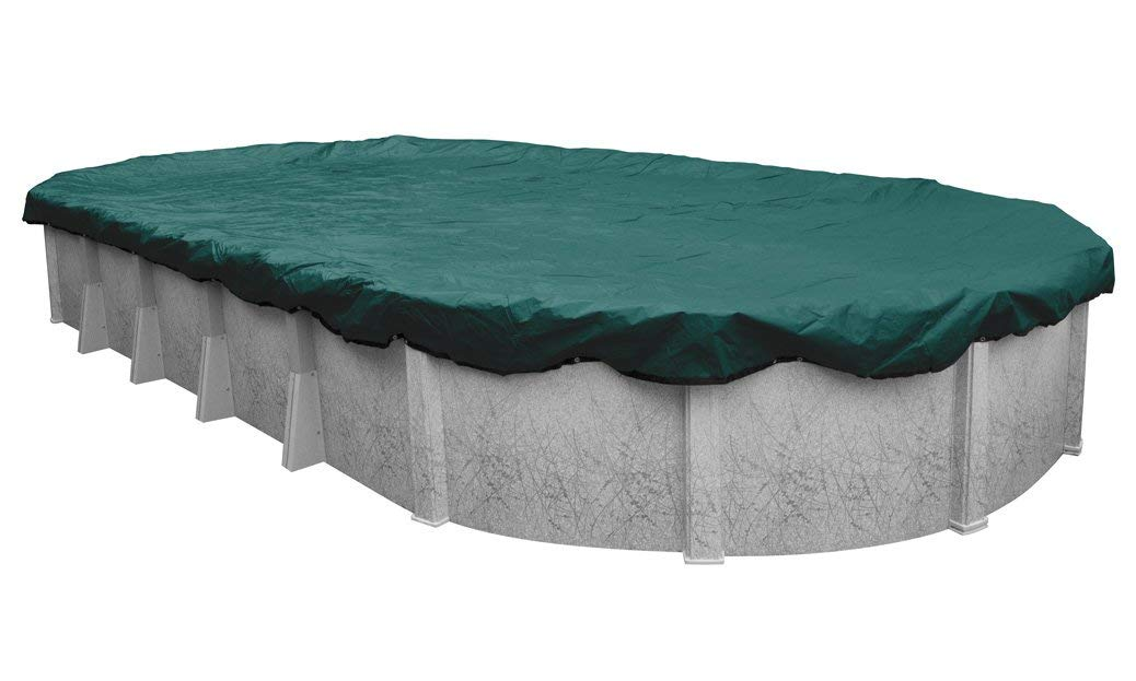 Pool Mate 391527-4-PM Commercial-Grade Winter Oval Above-Ground Cover, 15 x 27-ft, Teal Green