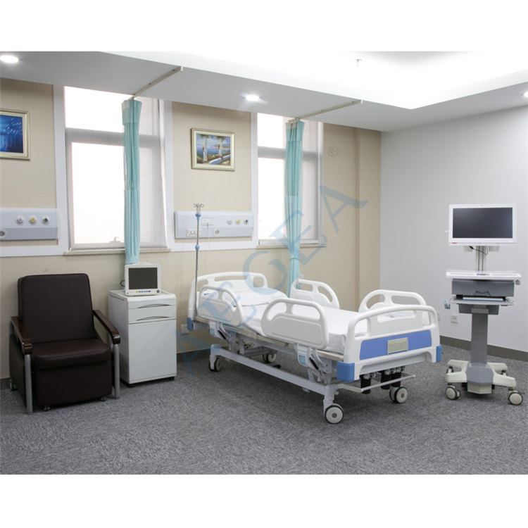 Three functions both electric and manual cranks control sickroom series solution physical therapy bed