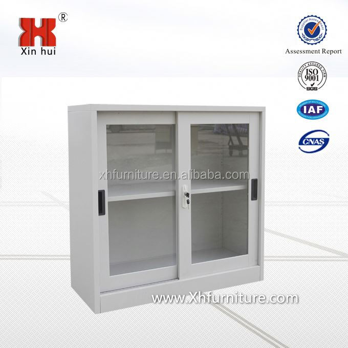 Metal Cabinets With Glass Sliding Door Metal Cabinets With Glass