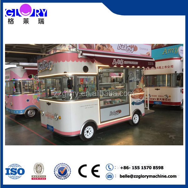 Popular Mobile Electric Food Truck/Fried Ice Cream Machine Mobile Food Cart