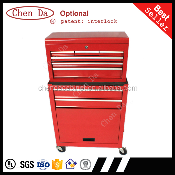 cheap metal portable top chest rolling tool storage box cabinet sliding drawers