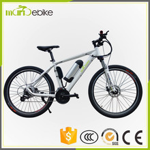 Hot 2017 newest 26inch full suspension fork mountain ebike racing city bike