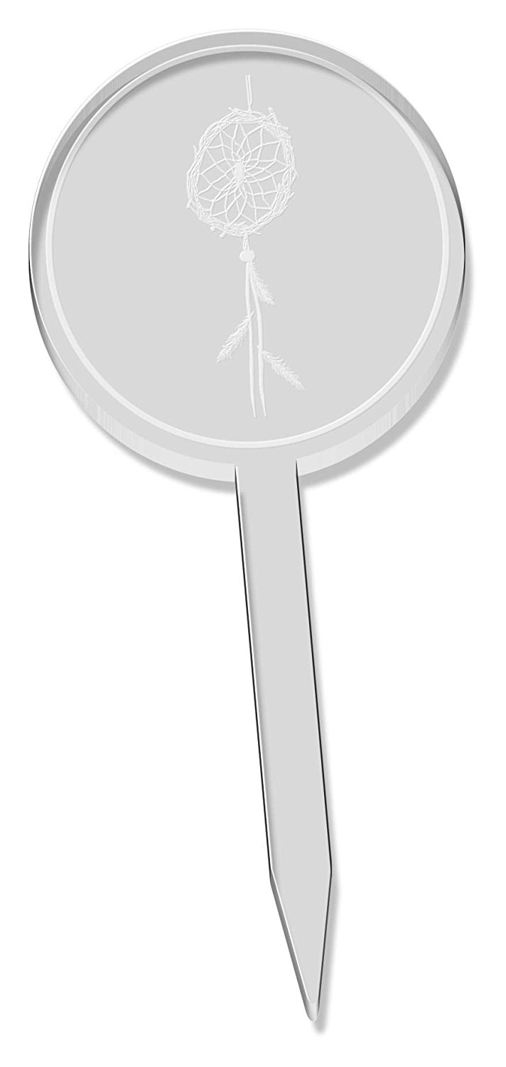 6 x 'Dreamcatcher' Clear Cupcake Picks / Cake Toppers (CT00003695)