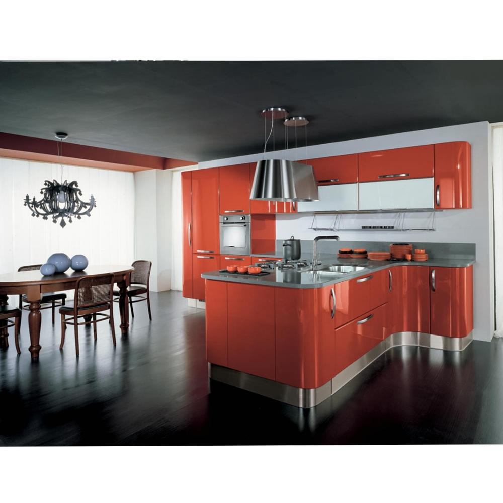 Fashion <strong>Design</strong> High Glossy White Lacquer Kitchen with Island