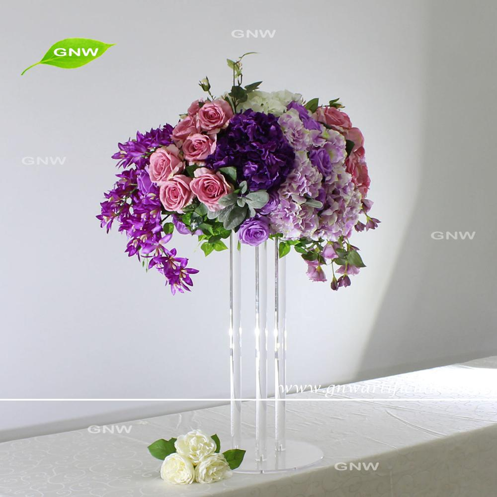 Gnw Purple Artificial Flower Ball Flower Arrangements For Centerpiece Buy Flower Arrangements For Centerpiece Artificial Flower Arrangements For Hotels Handmade Flower Arrangement Product On Alibaba Com