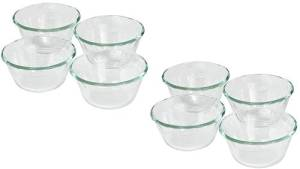 Pyrex Bakeware Clear Custard Cups, Set of 8, 6-Ounce by World Kitchen