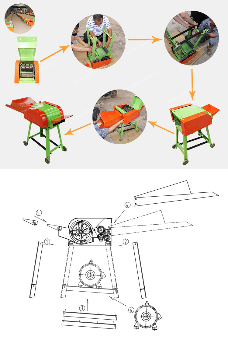 गर्म बिक्री धान के भूसे काटने मक्का सिलेज हेलिकॉप्टर मशीन फूस कटर