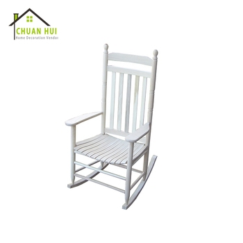 Fashion White Wood Nursery Rocking Chair For